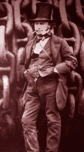 Isambard Kingdom Brunel the famous english victorian engineer and inventor in an iconic pose