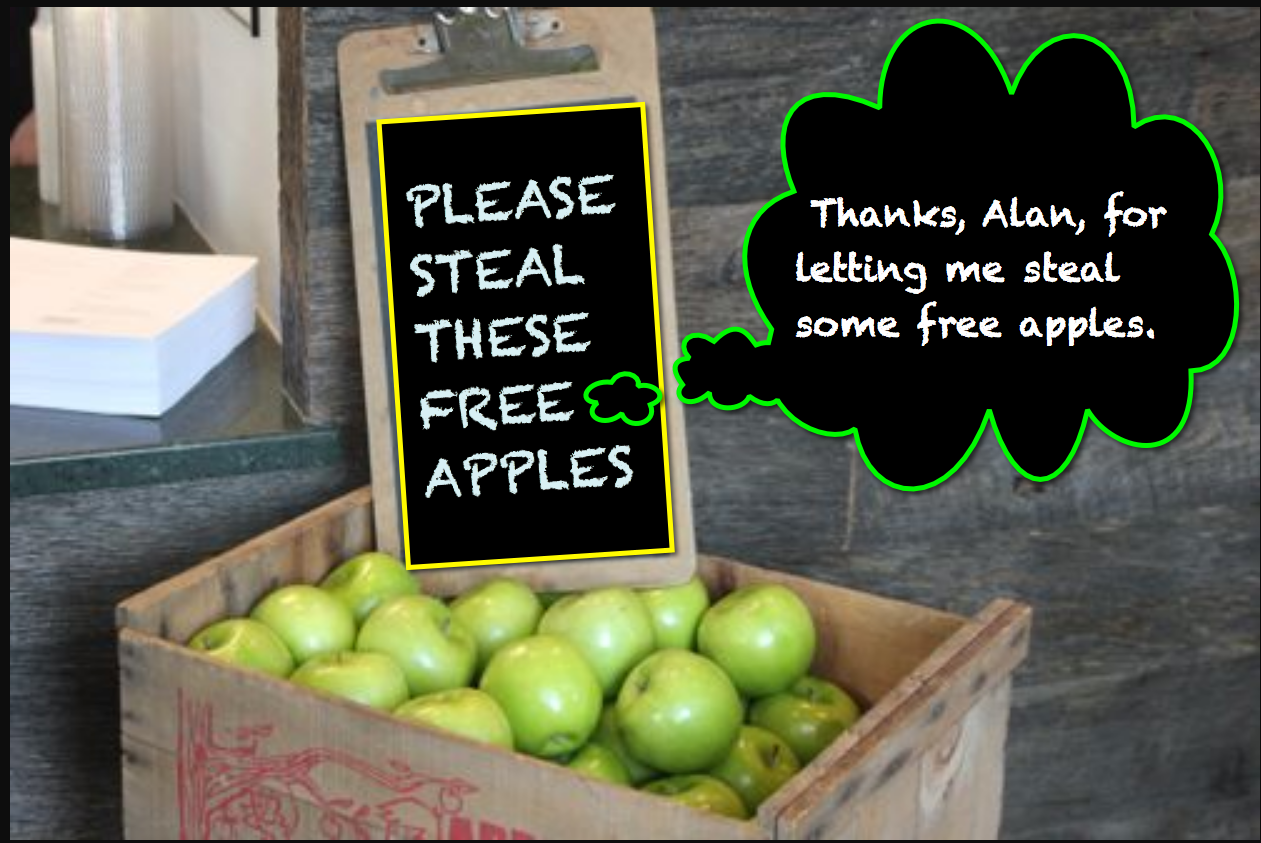 STEALING FREE APPLES