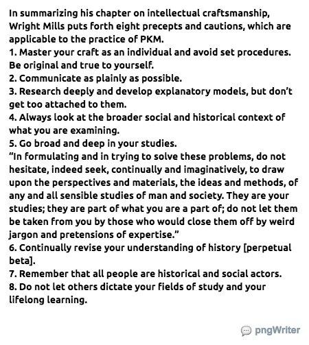 on intellectual craftsmanship
